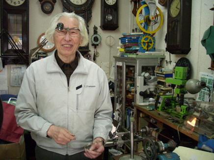 タムラ時計店・田村四郎さん